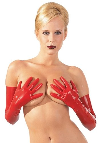 Gants en Latex haut de gamme - Rouges par The Latex Collection
