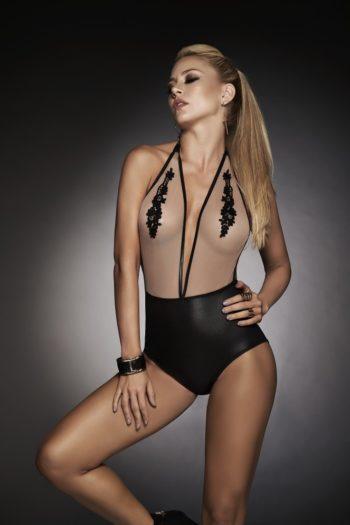 body-beige-noir lingerie belgique