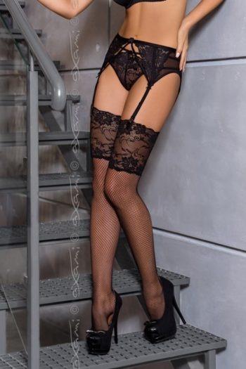 manolo-v-6094 bas noir haut de gamme boutique belgique lingerie