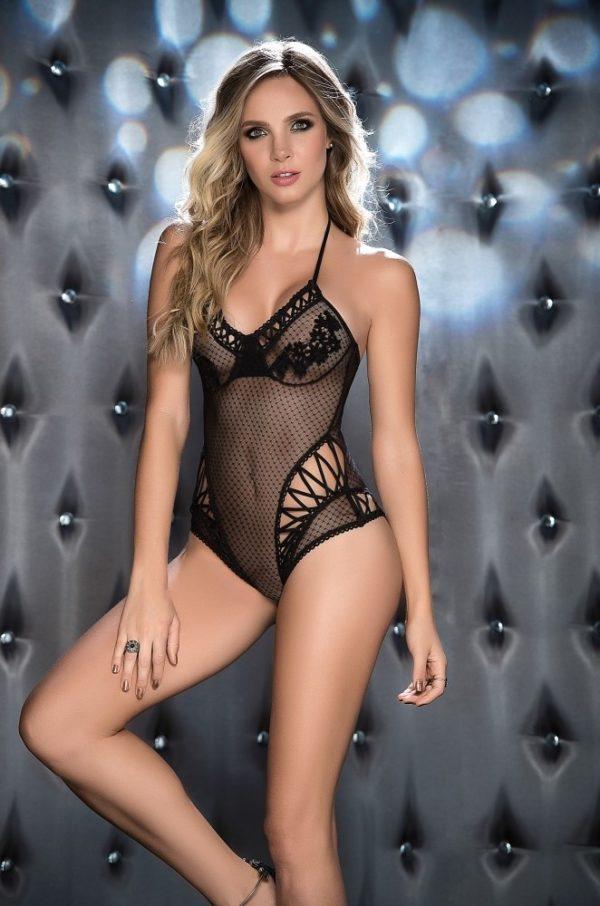 body-dentelle-et-resille-noir boutique lingerie belgique
