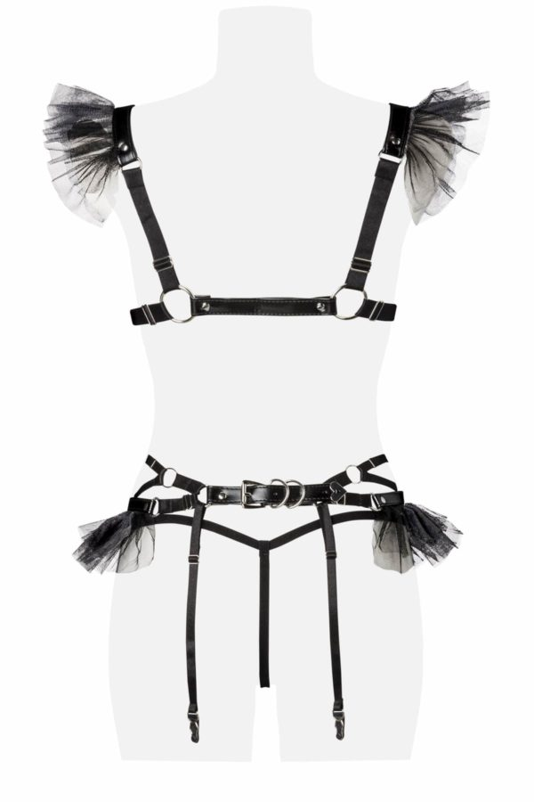 grey velvet ensemble sexy boutique belgique lingerie-min