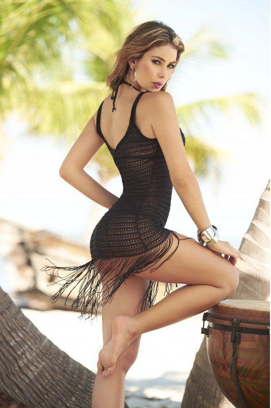 tenue de plage noire sexy boutique belgique mode femme