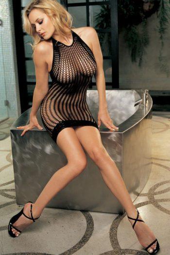 robe-filet-noire-moulante boutique sexy belgique