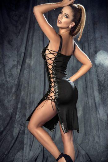 robe-ultra-sexy-cote-lace-et-decollete-drape boutique Mapalé belgique piment plume