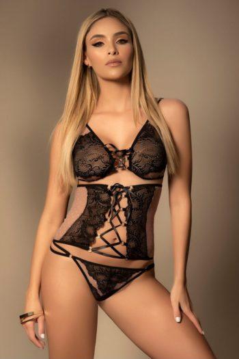 ensemble-sexy-noir-chair-avec-serre-taille mapalé lingerie sexy belgique