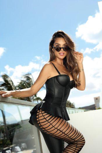 Corset luxe noir Axami haut de gamme lingerie belgique