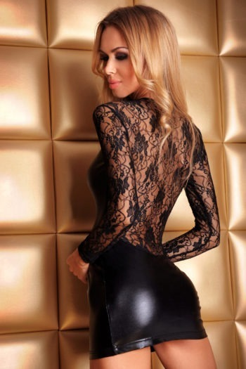 robe sexy noir wetlook bourtique belgique mode femme