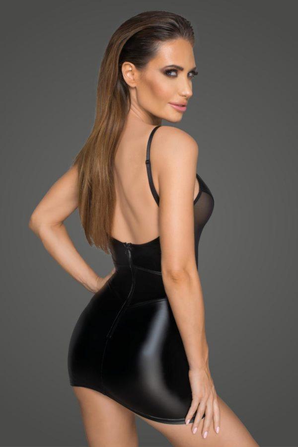 robe noire sexy boutique mode de charme belgique noir handmade vue de dos