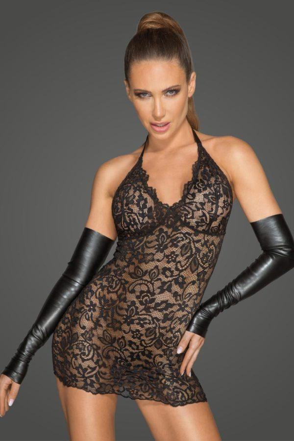 robe en dentelle noire handmade sexy qualité boutique lingerie belgique