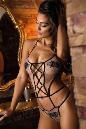body en tulle sexy par Axami de la boutique belge piment plume lingerie de luxe pour femme