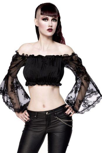 top noir ocultica mode femme gothique boutique belgique piment plume