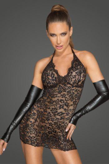robe sexy dentelle noire pour femme boutique fashion belge piment plume