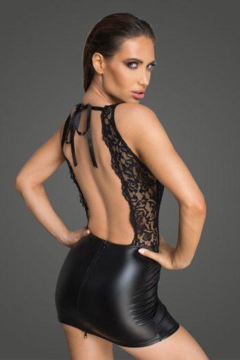 robe wetlook sexy noire boutique en ligne mode fashion femme